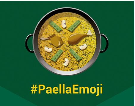 La paella también tiene derecho a un emoticono