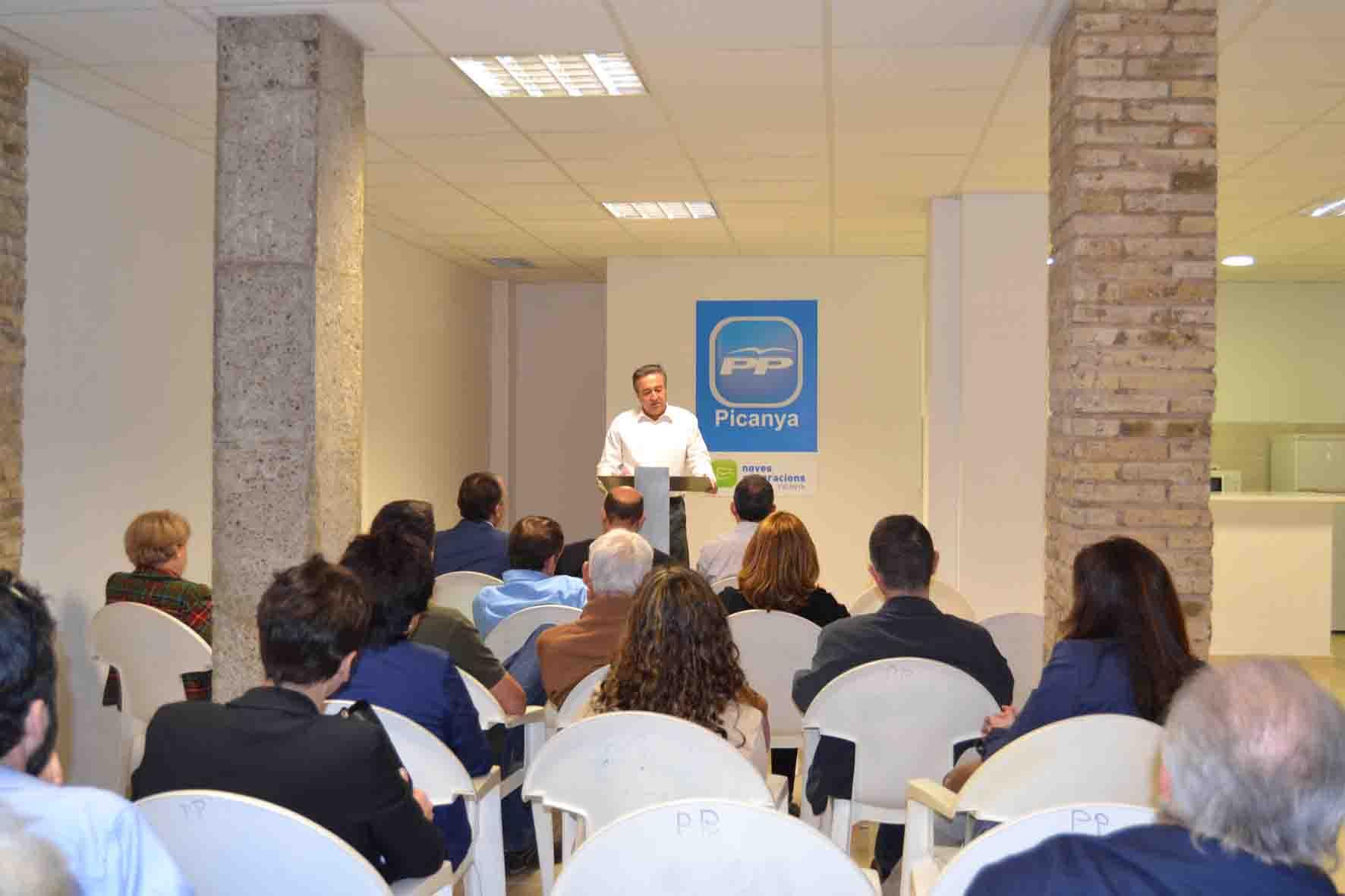 Juan Llopis encabeza la lista del PP de Picanya con «ilusión y trabajo»