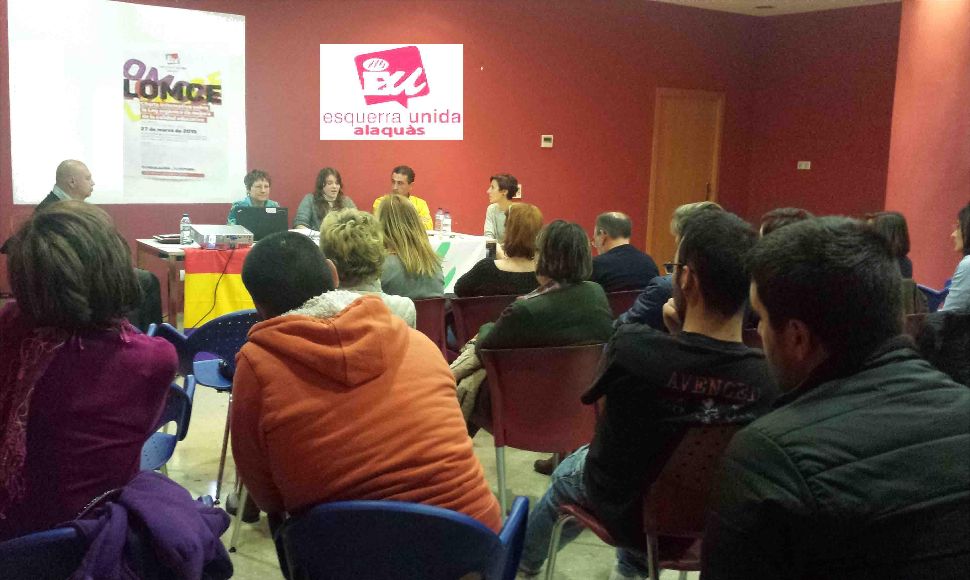 Esquerra Unida Alaquàs analiza la reforma educativa en una charla