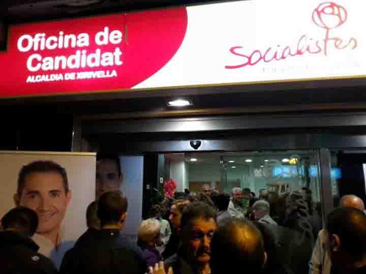 Montaner abre las puertas de su oficina del candidato en Xirivella