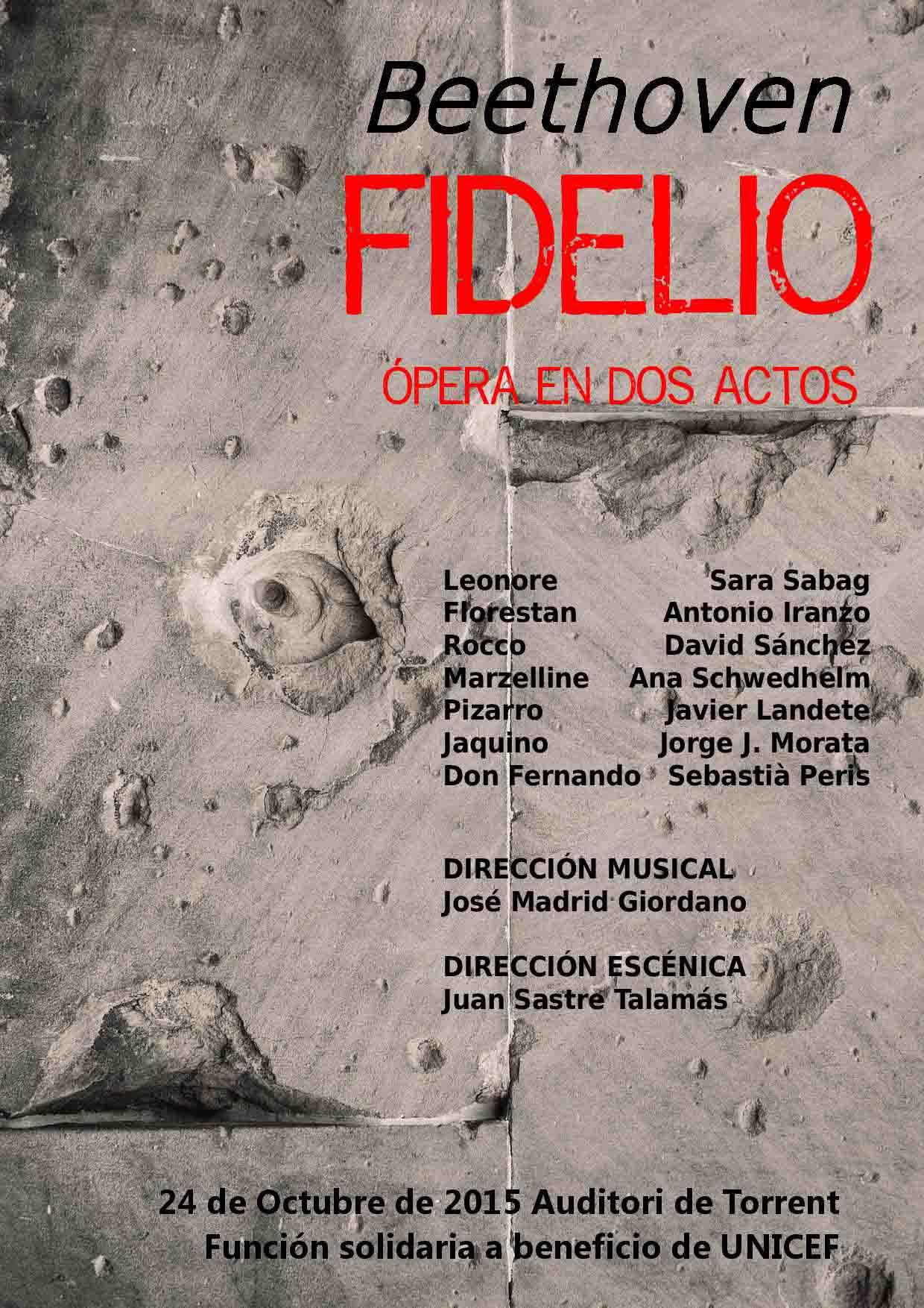 'Fidelio' de Bethoven, este sábado en l'Auditori de Torrent a beneficio de UNICEF
