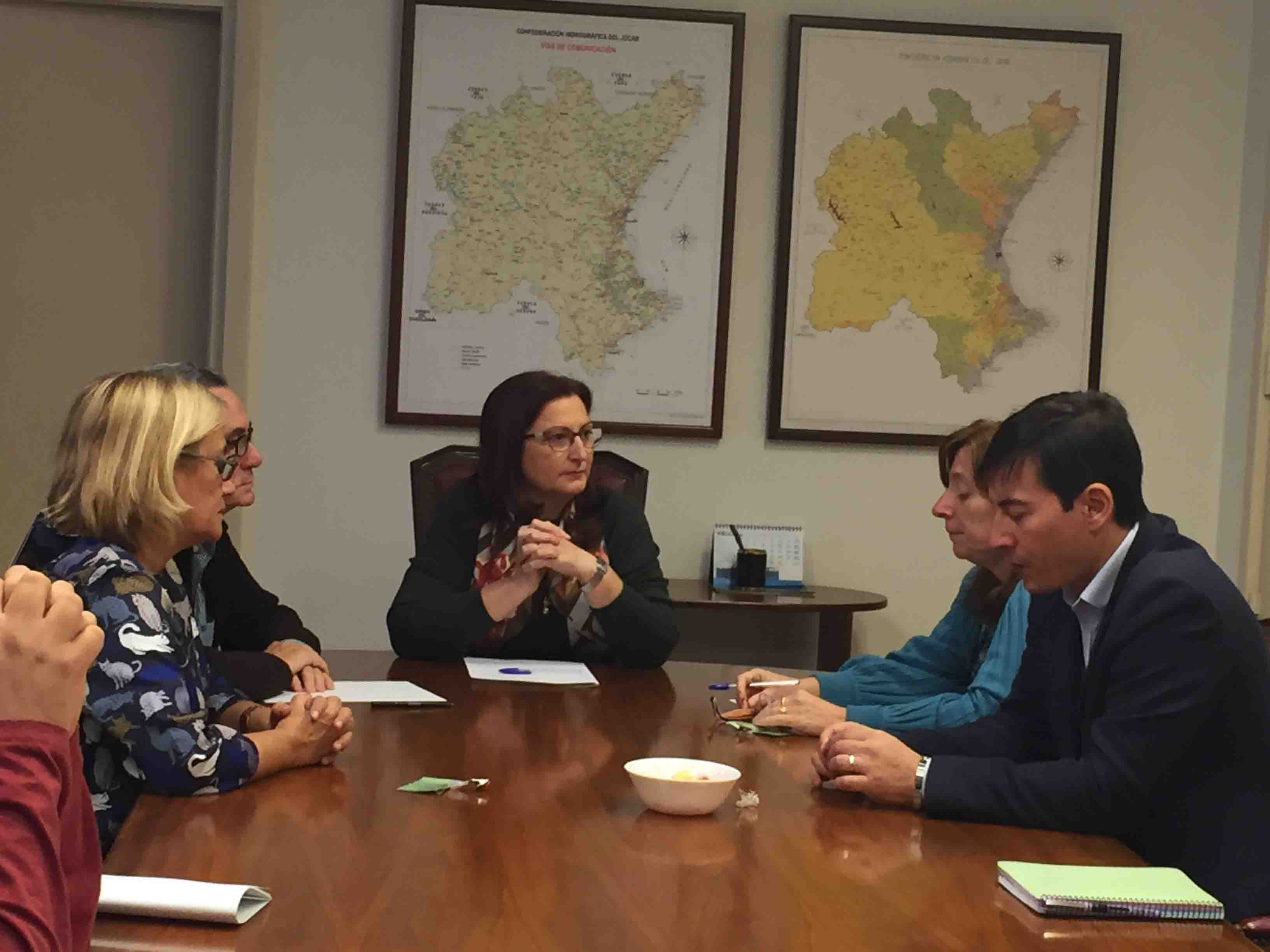 Los alcaldes de Godella, Rocafort y Burjassot se reúnen con la presidenta de la CHJ