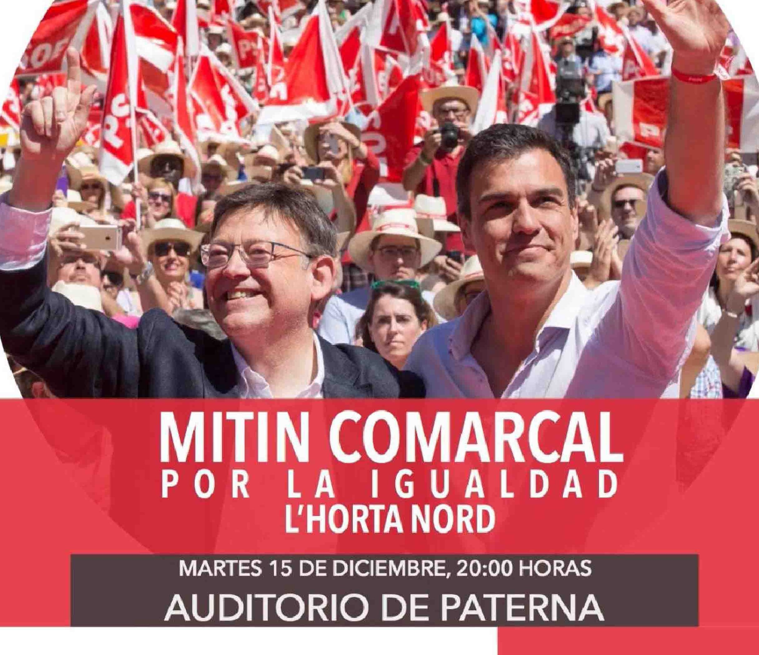 Ximo Puig celebra mañana en Paterna el mitin central de l'Horta Nord