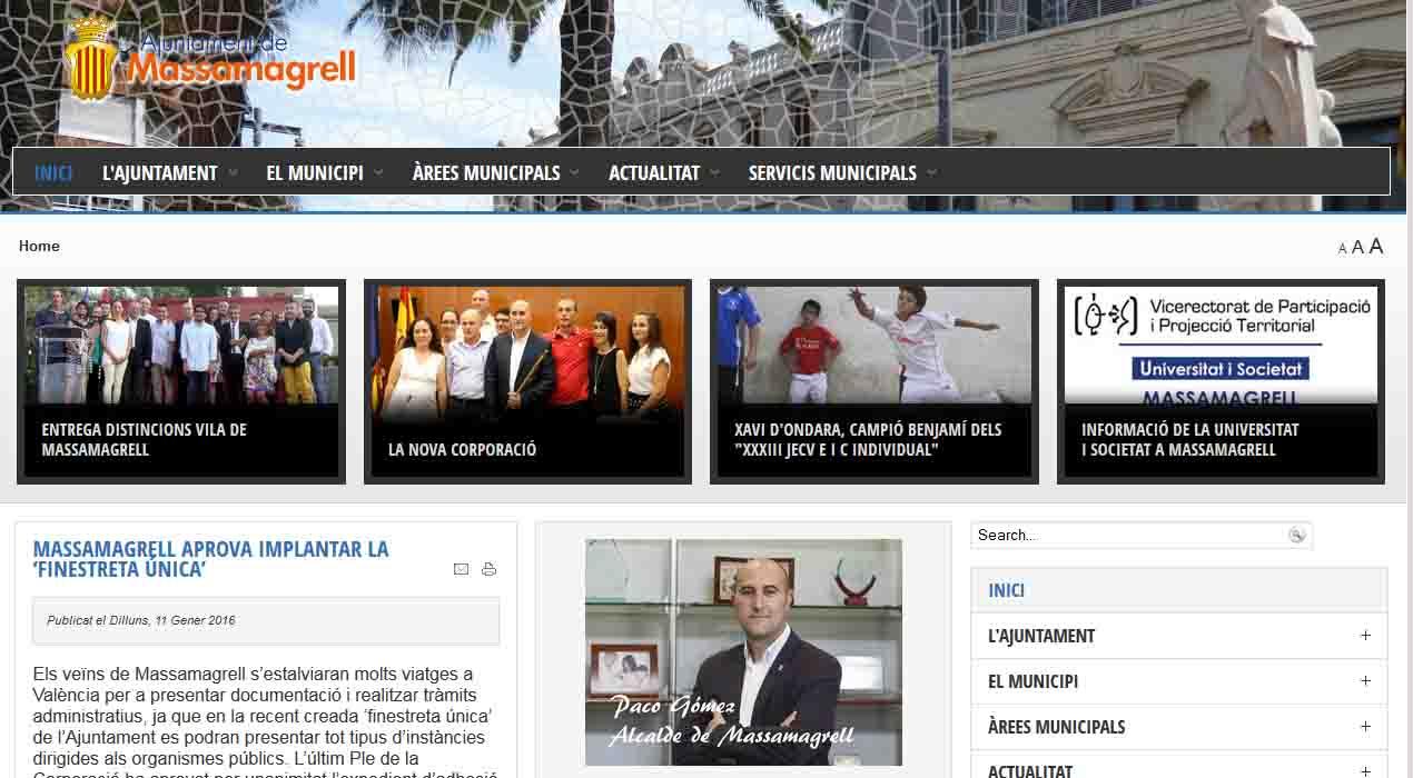 Massamagrell crea la 'ventanilla única' para atender a los ciudadanos