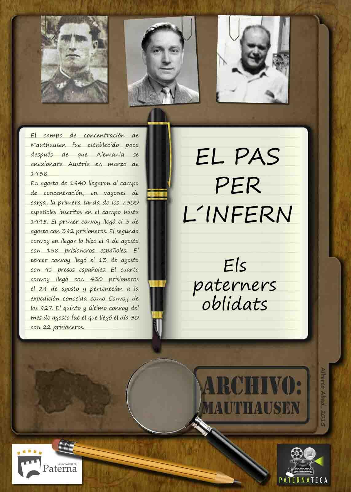 Paterna ret homenatge als tres paterners presoners en Mauthasen