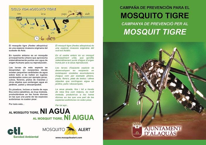 Mes de 10.000 euros per acabar amb el mosquit tigre a Alaquàs