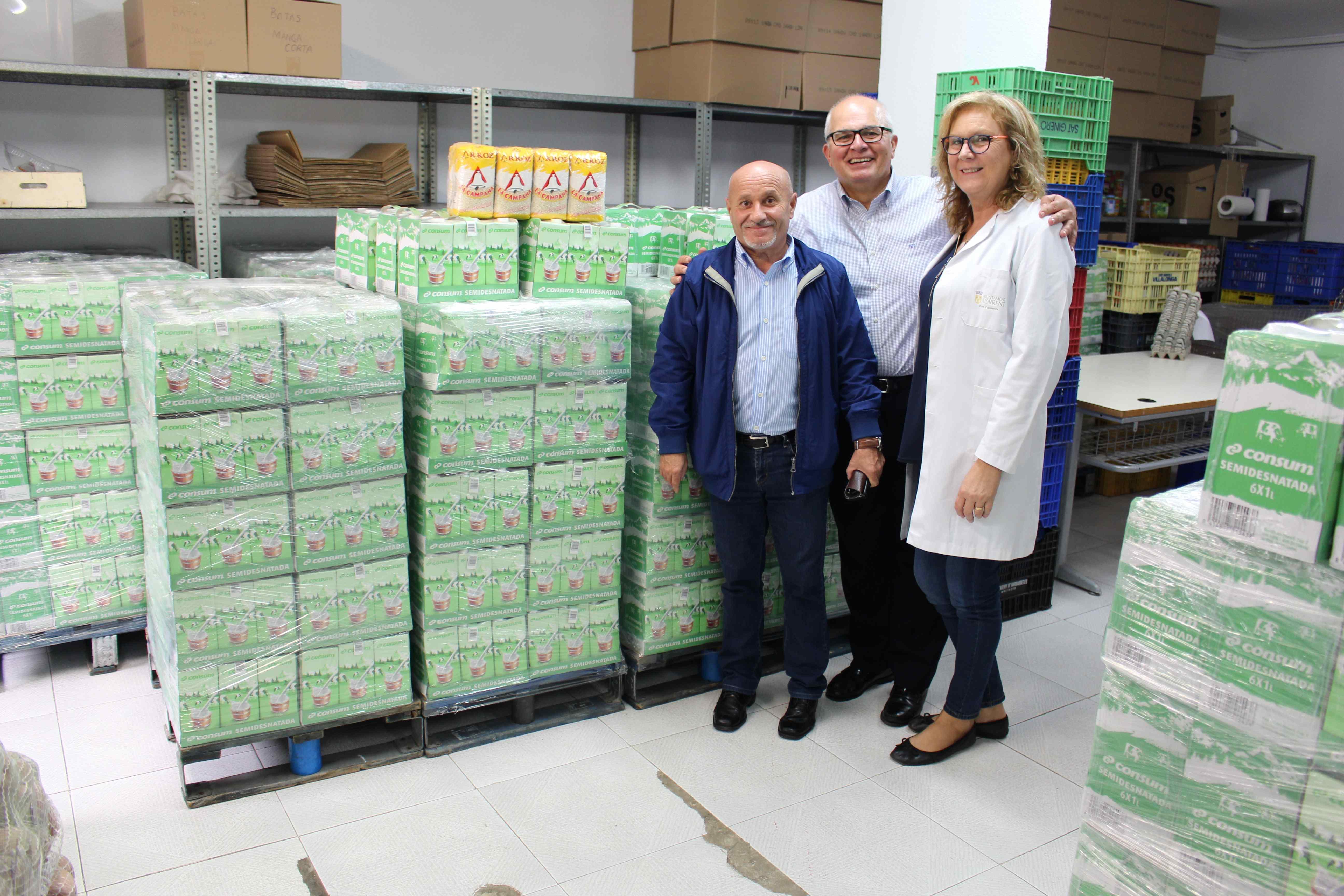 El Punto de Alimentos de Torrent ayuda a más de 5.000 personas al año