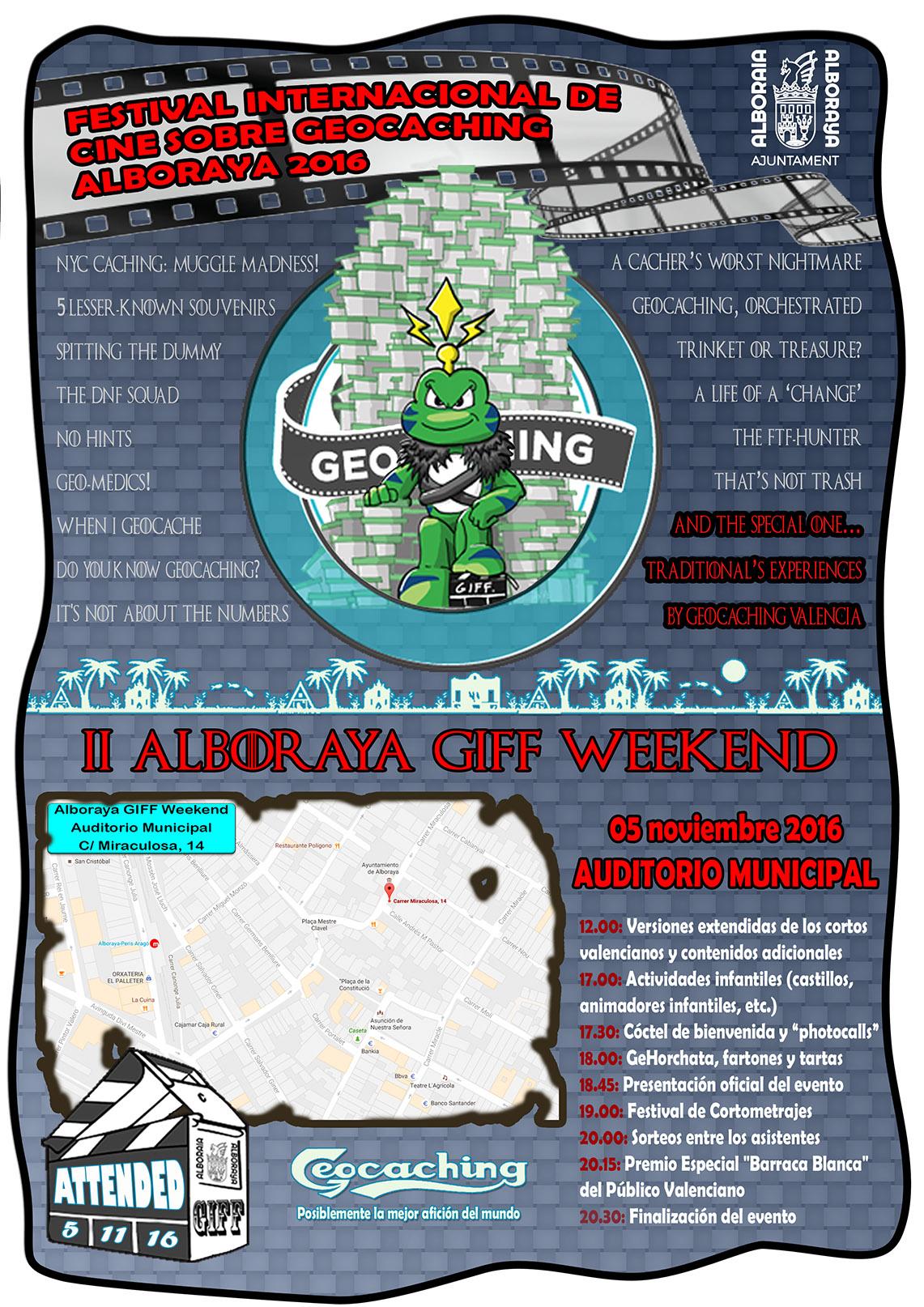 Alboraia acoge un festival internacional de cortos sobre Geocaching