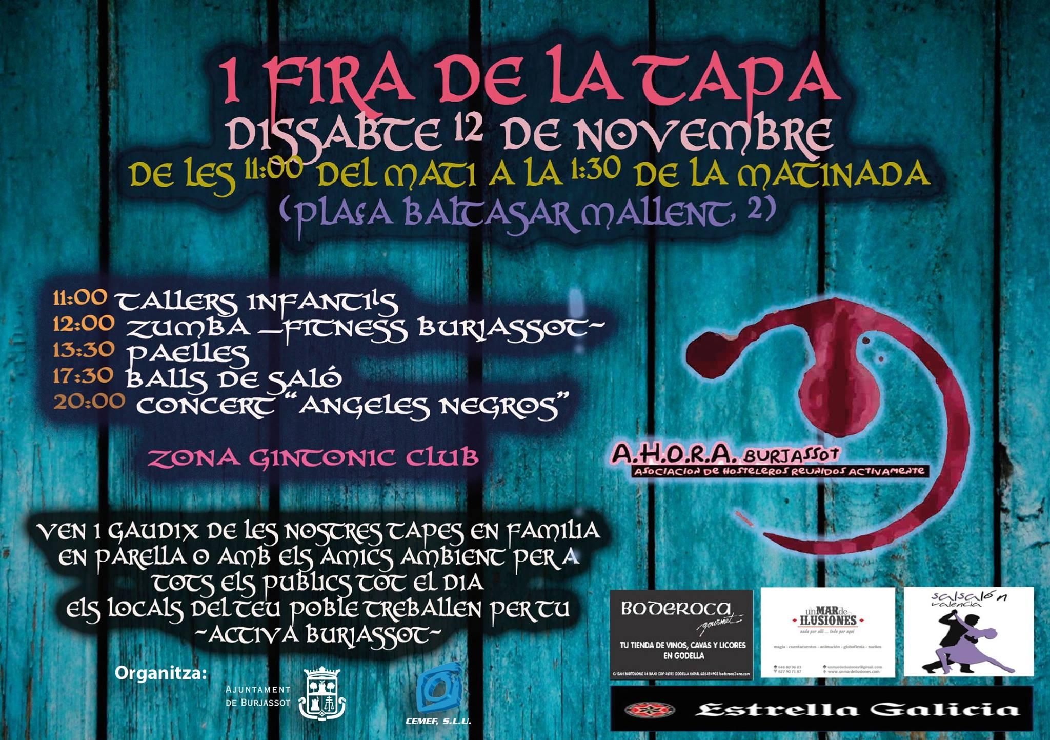 Burjassot celebra su primera Feria de la Tapa