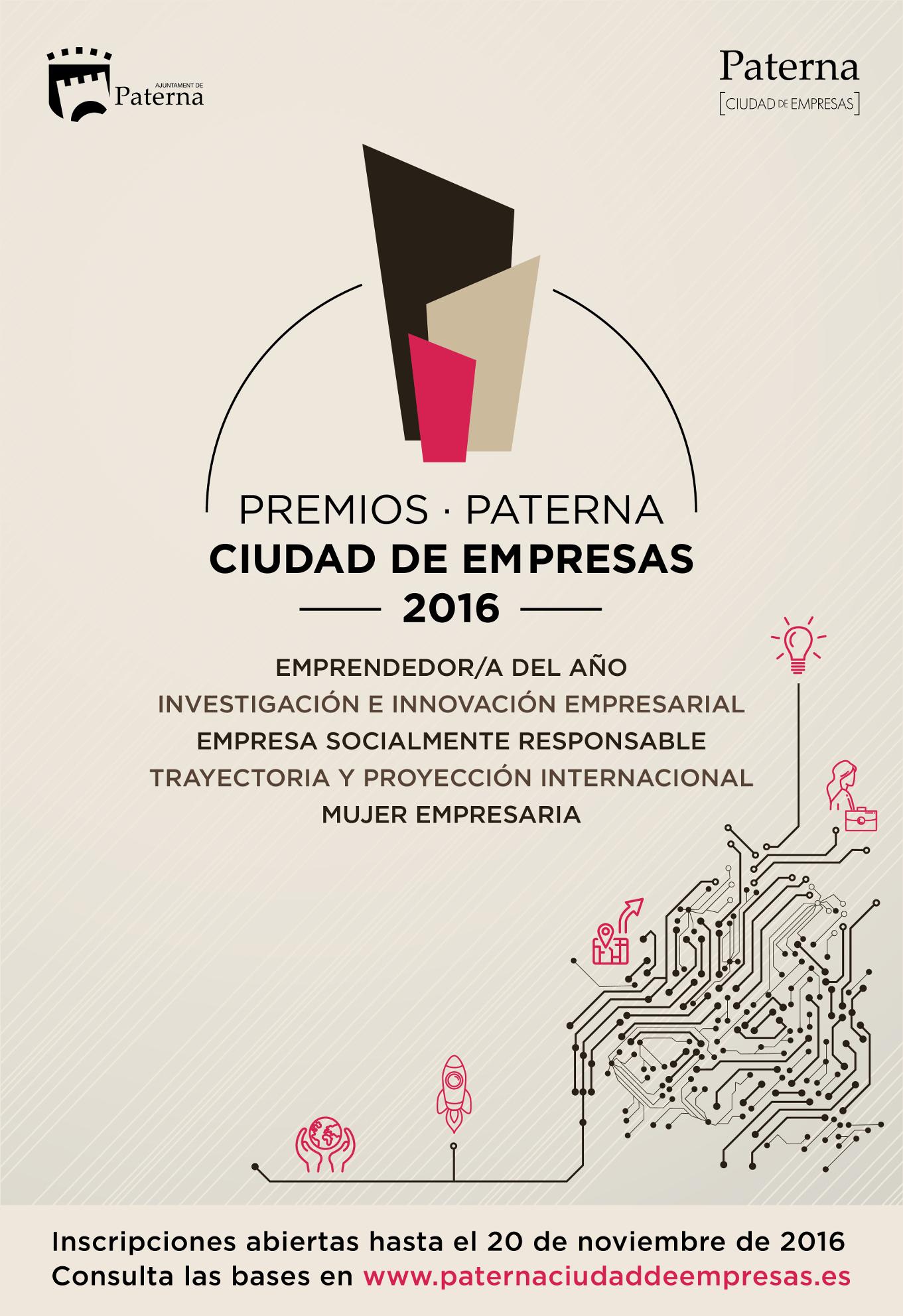 Convocados los Premios Paterna Ciudad de Empresas