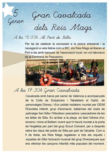 Els Reis Mags arribaran a Silla en barques tradicionals