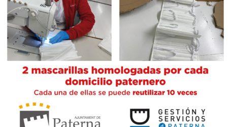 Paterna adquiere 150.000 mascarillas homologadas reutilizables para sus vecinos