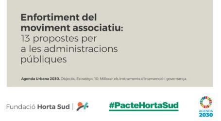 La Fundació Horta Sud presenta 13 propostes per a que les Administracions públiques recolzen al moviment associatiu