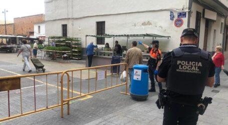 600 personas acuden al mercado de Massamagrell en su reapertura