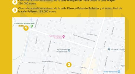 Benetússer invertirá 845.000€ en la mejora de sus calles