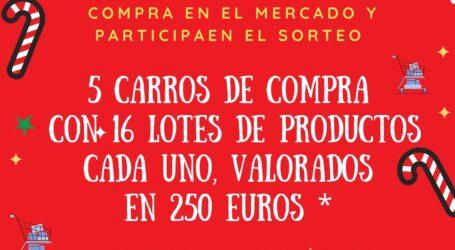 El Mercado Municipal «L'Almara» de Burjassot sortea cinco carros de la compra, valorados en 250 euros