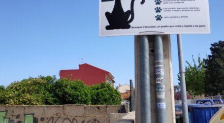 Bonrepòs i Mirambell instal·la els cartells informatius de Colònia Felina Projecte CER