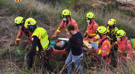 Rescatat d'una dona que havia caigut a 7 metres de desnivell al Barranc de l'Horteta de Torrent